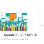 Ansar Surveys (April-May 2020)